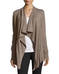 Neiman Marcus Knit Open Front Cardigan Brown Sugar