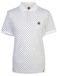 Pretty Green Men's Irwin Polka Dot Polo White