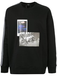 N 21 No21 Side Stripes Printed Sweatshirt Black