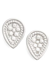 Anna Beck Women's Teardrop Stud Earrings Silver