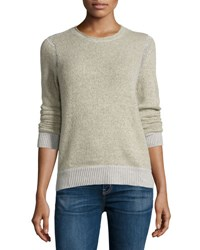 Christopher Fischer Cashmere Stitch Inset Sweater Top Hazel Ash