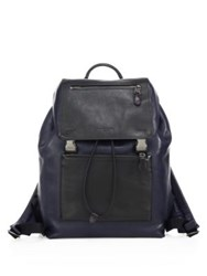 Coach Manhattan Leather Backpack Black