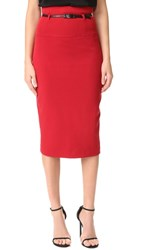 Black Halo High Waisted Pencil Skirt Red