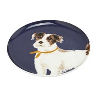 Joules Pawcasso Side Plate Navy Dog
