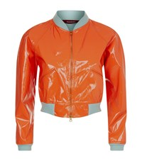 Sies Marjan Patent Bomber Jacket Female Orange