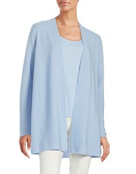 Eileen Fisher Open Front Knit Cardigan Morning Glory