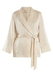 Morpho Luna Amelie Sandwashed Silk Short Robe Cream