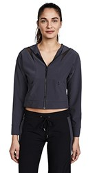 Cushnie Et Ochs Selma Hooded Zip Up Jacket Titanium