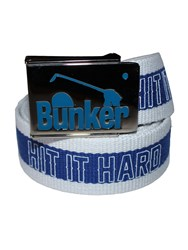 Bunker Mentality Hit It Hard Webbing Belt Blue