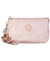 Kipling Creativity Extra Large Cosmetic Pouch Rose Gold Metallic