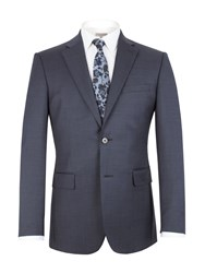 Alexandre Of England Pin Dot Notch Collar Classic Fit Suit Jacket Blue