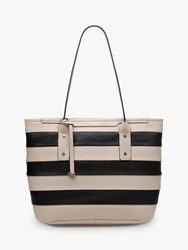 Radley Patcham Palace Stripe Tote Bag Dove Grey
