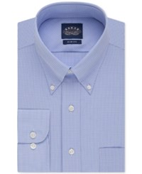 Eagle Slim Fit Non Iron Blue Gingham Dress Shirt