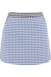 Richard Nicoll Gingham Stretch Cotton Twill Mini Skirt