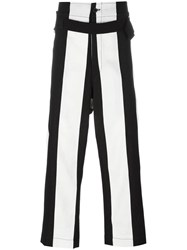 Ann Demeulemeester High Waist Striped Trousers Black