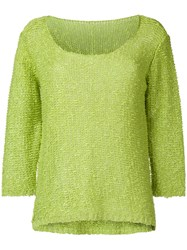 Charlott Fine Knit Jumper Green