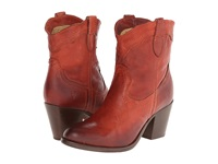Frye Tabitha Pull On Short Burnt Red Washed Antique Pull Up Cowboy Boots Brown