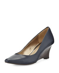 Circa Joan And David Deacon Pointed Toe Wedge Pump Midnight
