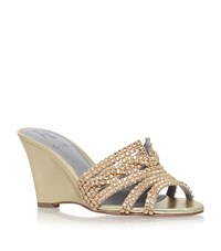 Gina Syracuse Wedge Sandals Female Gold