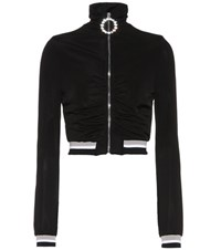 Alessandra Rich Cropped Jacket Black
