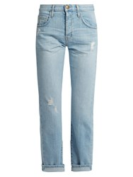 Current Elliott The Original Mid Rise Straight Leg Jeans Light Denim