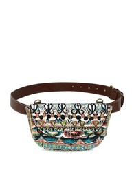 Sakroots Jubilee Printed Convertible Saddle Bag Natural