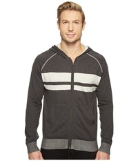 Agave Dorian 100 Supima Fine Gauge Hoodie Charcoal Men's Sweater Gray