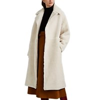 Martin Grant Shearling Cocoon Coat Cream