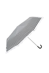 Forever 21 Striped Ruffle Trim Umbrella Black White