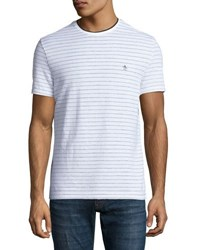 Original Penguin Short Sleeve Striped Tee White