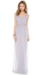 Joanna August Newbury Cap Sleeve Wrap Dress Silver Bells
