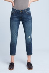 Anthropologie Dl1961 Davis Mid Rise Boyfriend Petite Jeans Denim Light
