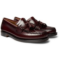 G.H. Bass Weejuns Layton Kiltie Moc Ii Leather Tasselled Loafers Burgundy