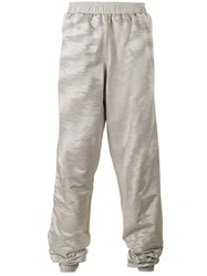 Y Project Oversized Track Pants Men Polyester Acetate M Grey