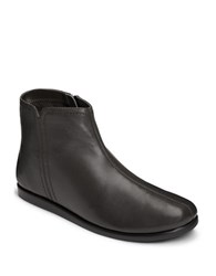 Aerosoles Willingly Leather Side Zip Ankle Boots Black