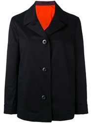 Paul Smith Trench Style Jacket Women Cotton Spandex Elastane Cupro 44 Black