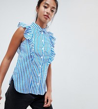 Noisy May Petite Frill Detail Shirt Multi