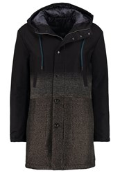 Sisley Winter Coat Black Dark Blue