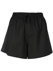 Monse Drawstring Waist Shorts Black