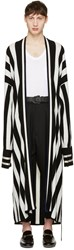 Haider Ackermann Black Striped Long Cardigan