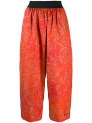 Rohka Cropped Length Trousers Orange