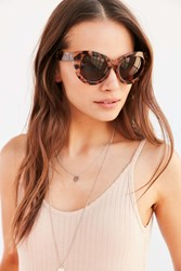 Urban Outfitters Bianca Chunky Cat Eye Sunglasses Brown