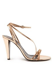 10fbf3e2391 Isabel Marant Arora Mirrored Leather Sandals Rose Gold