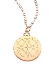 Devon Woodhill Lucky Diamond And 18K Rose Gold Locket Necklace
