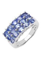 Olivia Leone Sterling Silver Tanzanite Ring Purple