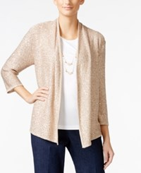 Alfred Dunner Petite Layered Look Necklace Top Almond