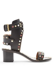 Isabel Marant Jaeryn Block Heel Sandals Black Multi