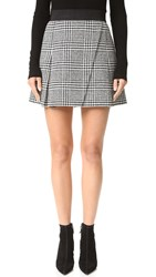 Alice Olivia Cindie Pleated Miniskirt Black Cream