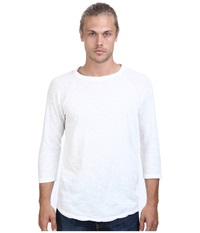 Alternative Apparel Washed Out Slub Baseball Tee Vintage White Men's Long Sleeve Pullover Beige
