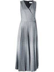 Osman Pleated V Neck Jumpsuit Grey